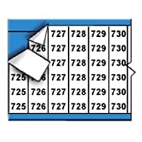 Brady WM-725-749-PK Repositionable Vinyl Cloth (B-500) Black on White Consecutive Numbers Wire Marker Card (25 Cards) [並行輸入品]