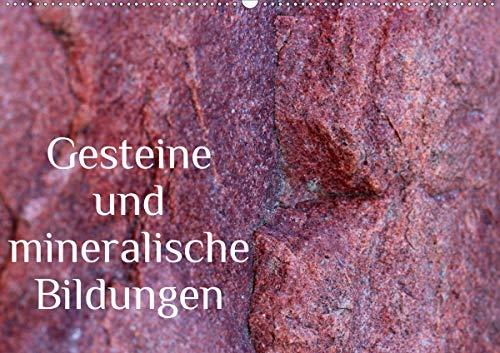 Gesteine und mineralische Bildungen (Wandkalender 2020 DIN A2 quer)