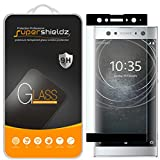 Supershieldz Designed for Sony (Xperia XA2 Ultra) Tempered Glass Screen Protector, (Full Cover) (3D Curved Glass) Anti Scratch, Bubble Free (Black)