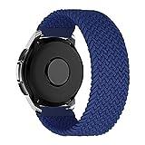 MroTech Compatible con Samsung Galaxy Active/Active2 40mm/44mm/Galaxy Watch 3 41mm/Galaxy 42mm Correa de Nailon elástico 20mm Pulseras de Repuesto para Huawei GT 2 42 mm Banda Nylon Woven Loop-Azul/S