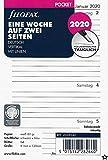 Filofax Kalendereinlage Pocket 1 Woche auf 2 Seiten vertikal (deutsch)2020