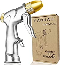 FANHAO Upgrade Garden Hose Nozzle Sprayer, 100% Heavy Duty Metal Handheld Water Nozzle High Pressure in 4 Spraying Modes for Hand Watering Plants and Lawn, Car Washing, Patio and Pet