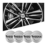 Meet's shop Tapas para Llantas 1set Coche Wheel Stickers 56mm Auto Center Hub Cap Decal Compatible con Nissan Qashqai Juke X-Trail Tiida Teana Skyline Almera Altima Versa Insignia del Emblema