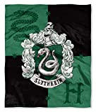 Harry Potter Slytherin House Crest Silk Touch Throw 50' x 60'- Slytherin