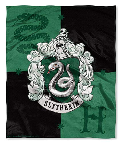Harry Potter Slytherin House Crest Silk Touch Throw 50