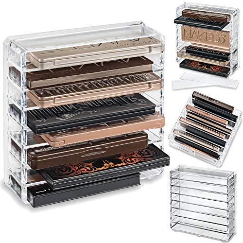 byAlegory Acrylpalette Make-up Organizer mit abnehmbaren Trennwänden zum Stehen und Verlegen | 8 Felder Für mittelgroße Standardpaletten