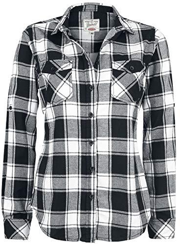 Brandit Amy Flanell Checkshirt Girl-Hemd schwarz/weiß - S