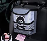 Cartoon Car Trash With PP Bucket and 2pc Rolls of Garbage Bags Waterproof Hanging Universal Interior Accessories