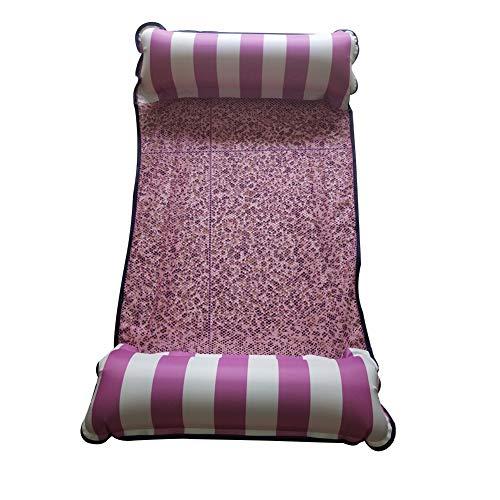 Hamac Gonflable Piscine Selle Selle Selle Plage Chaise de Sport de Sports Nautiques Matelas à air Polyvalent Jouet Pliable Flottant (Color : Rose)