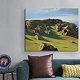 Edward Hopper Realism cuadro de paisaje impresa en lienzo, arte moderno de la pared de la lona para la sala de estar imágenes de decoración del hogar 40x48cm sin marco