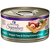 Wellness Natural Pet Food CORE Signature Selects Grain Free Canned Cat Food, Flaked Skipjack Tuna & Shrimp in Broth, 2.8 Ounces (Pack of 12)