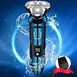 Vifycim Electric Razor for Men, Mens Electric Shavers, Dry Wet Waterproof Rotary Facial Shaver, Face Shaver Cordless Travel USB Rechargeable with Beard Trimmer LED Display for Shaving Husband Dad