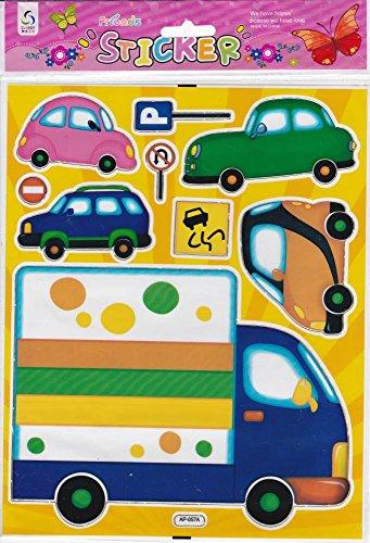 Camion Truck voitures autocollants 9 pièces 1 feuilles 250 mm x 200 mm Stickers bricolage enfants PARTY