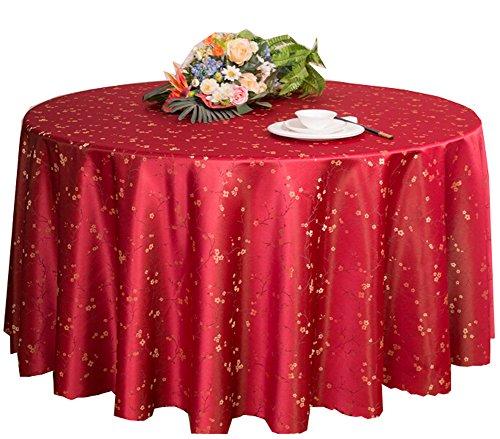 Black Temptation Hôtels Mariages Banquets Accessoires de Table Nappes Rondes Couverture de Table Rouge (200 * 200 CM)