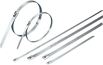 Stainless Steel Cable Ties, Self-Lock, 150Lbs to 200Lbs Test (100, 11