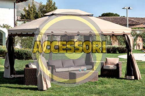 HOMEGARDEN Ricambio 4 Teli Laterali per Gazebo Adventure 300 x 400