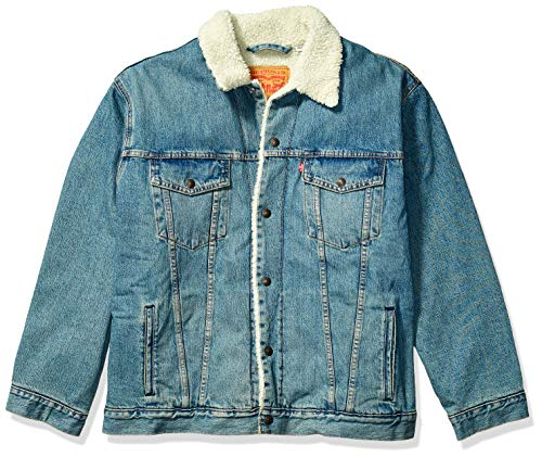 Levi's Men's Big & Tall Trucker Jacket-Big, special sauce sherpa, 5X-Large
