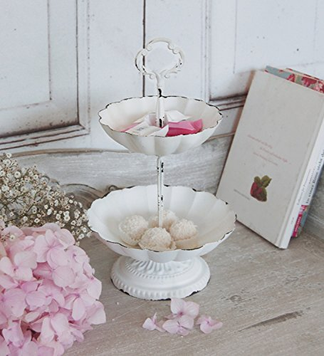 windschief-living Etagere Louisa im Landhaus Shabby Chic Stil, traumhafte Antique Etagere