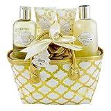 Gloss - caja de baño, caja de regalo para mujeres -  Bolsa espumoso baño Bliss - flores blancas y almizcle - 5pcs