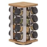 Kamenstein 5134680 Warner 16-Jar Revolving Countertop Spice Rack Organizer with Free Spice Refills for 5 Years