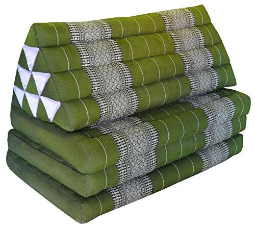 Wilai Kapok Thaikissen Kissen mit drei Auflagen XXL, grün