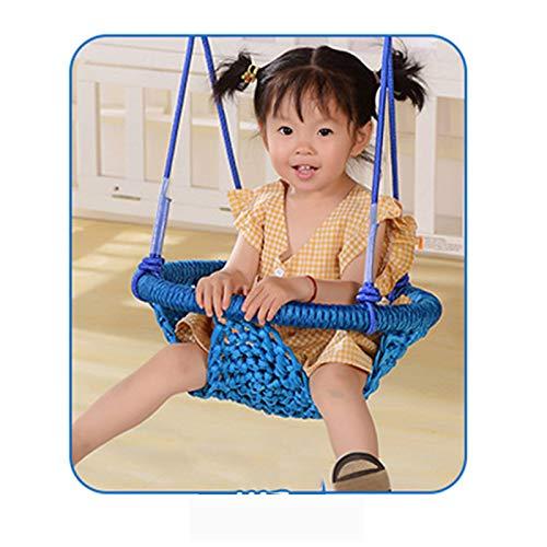 Backboards Siège pour Enfants Swing,Fauteuil de Maille Respirant,Facile à Installer Empêcher Banquette Hamac de Rollover,pour Maison de Jardin Domicile,Blue