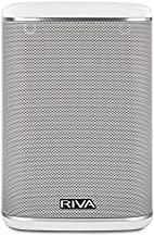 RIVA ARENA Smart Speaker Compact Wireless for Multi-Room music streaming and voice control works with Google Assistant (White)