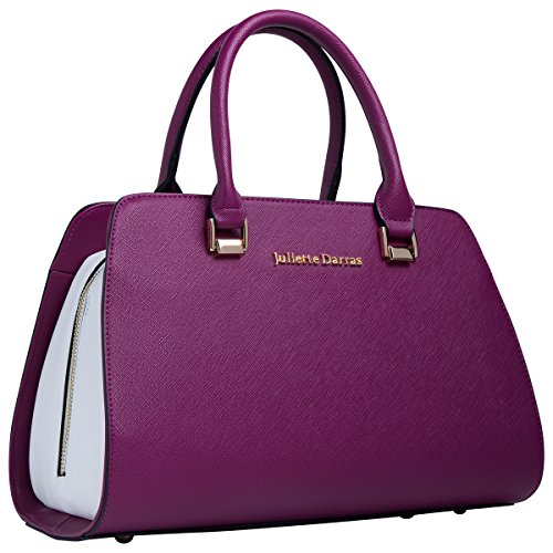 Juliette Darras Insulated Lunch Bag for Women - Elegant Multifunctional Lunch Tote Purse for Women Fuchsia