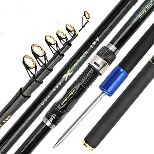 Fishing Rod Kit Carbon Fiber Telescopic Fishing Rod Short Sea Rods Telescopic Fishing Rod Spinning Fishing Pole Telescopic Fishing Rod Pole (Length : 3.6 m)