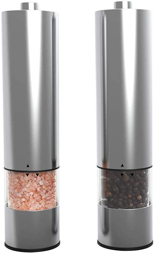Electric Salt and Pepper Grinder Operated Set Battery shop Electr free shipping