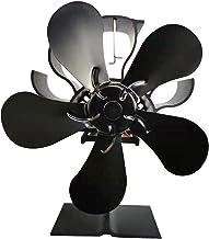 XIANGE100-SHOP Ventiladores para chimeneas Chimenea Estufa de leña o Estufa de pellets dispersando eficazmente Aire Caliente Alrededor de su Sala de fantástico de Estufa eléctrica Chimenea