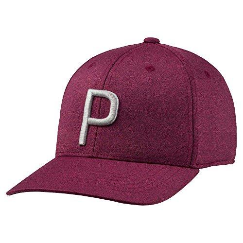 Puma Golf 2018 'P' Snapback Hat (Pomegranate-Quarry, One Size)