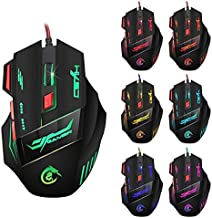 HXSJ H100 Dragon 7D 5500 DPI Colorful Backlight Wired Optical Gaming Mouse