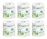 My Tissue - Saco de 6 Rollos de Papel Multiusos, 300 Servicios - Ecológico, Compacto, Suave, Certificado FSC Recycled, Dos Capas, Papel Cocina, Rollo Secamanos, Papel de Secado