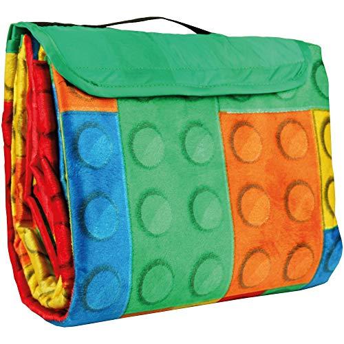 Bestlivings Picknickdecke inkl. Kissen mit Fotodruck - Spielbaustein - 120x80 cm (BxL), in vielen Variationen