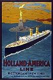 Holland America Line Vintage Travel Rotterdam New York
