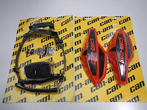 Can-Am ATV RED Hand Guard/Wind Deflector Kit w/Mount Outlander,Renegade,DS