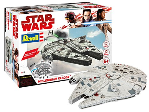 Revell 06765 Star Wars episodio VIII Build & Alcon milenario, con luces y sonidos