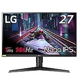 【Amazon.co.jp限定】LG ゲーミングモニター 27GL850-B 27インチ/WQHD(2560×1440)/Nano IPS/1ms(GtoG)/144Hz /G-SYNC Compatible/HDR対応/HDMI×2,DisplayPort/ピボット,高さ調節対応