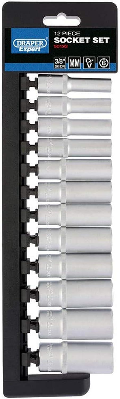 DRAPER d9md 6pt E 3 8 Zoll Vierkantantrieb metrisch Tief Sockel, blau, 12 Stück B071XHVYSM   Hohe Qualität und Wirtschaftlichkeit