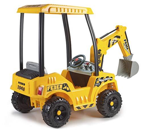 FEBER - Super Digger, Pelleteuse à Batterie pour Enfants de 3 Ans et plus, 12V (Famosa 800012320)
