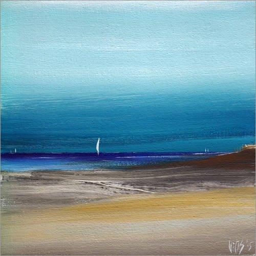 Posterlounge Acrylglasbild 40 x 40 cm: Nordsee von Vittorio Vitale - Wandbild, Acryl Glasbild, Druck auf Acryl Glas Bild