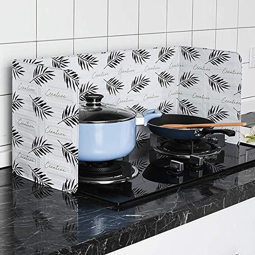 Gaddrt Spritzschutz Home Kitchen Herd Folie Platte verhindern Öl Spritzen Kochen heiße Schallwand Küchenwerkzeug 84 x 33cm (Weiß)