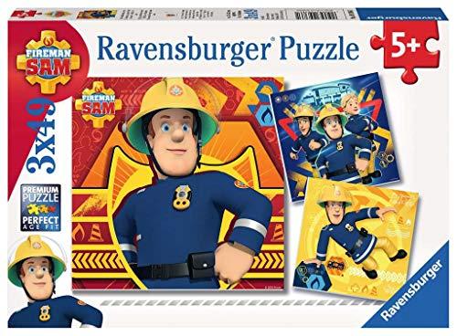 Ravensburger Kinderpuzzle 09386 - Bei Gefahr Sam rufen - 3 x 49 Teile