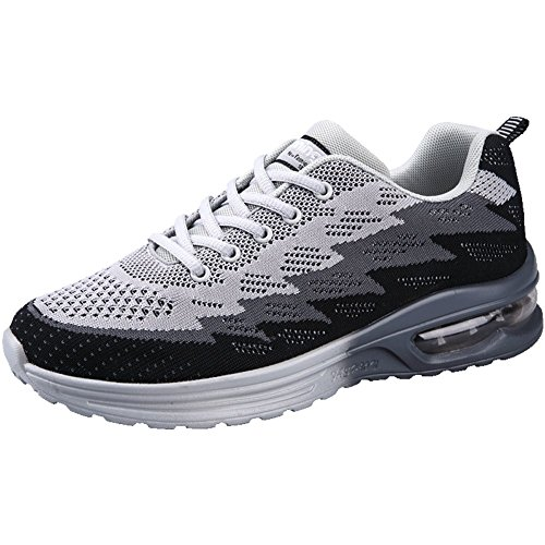 JARLIF Women's Lightweight Jogging Training Running Shoes Athletic Walking Tennis Sneakers (5.5 M US Women, Black)