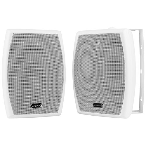 "Dayton Audio IO655WT 6-1/2"" 2-Way 70V Indoor/Outdoor Speaker Pair White"
