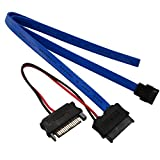 オウルテック Slimline SATA電源変換 セットコネクタ 50cm 電源ケーブル13cm
