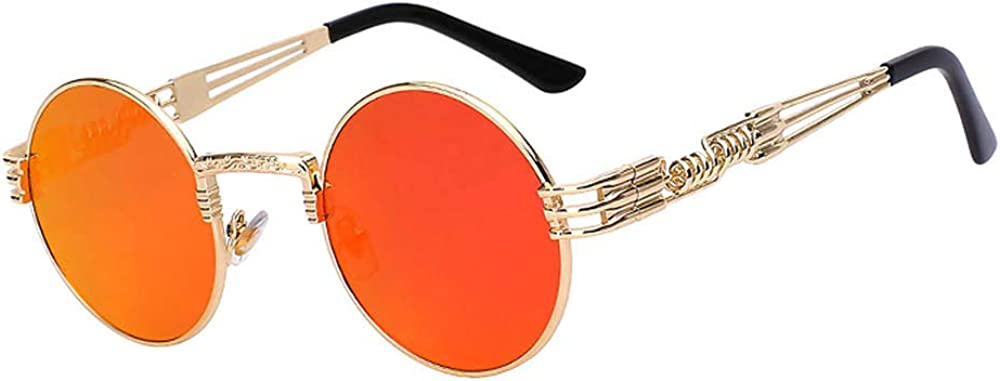 Retro Max 49% OFF Soldering Steampunk Style Round Vintage Metal Colored Sunglasses Fra