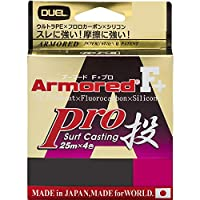 DUEL(デュエル) PEライン 1.0号 アーマード F+ Pro 投げ 200M 1.0号 オレンジ25m✕4色 投げ H41.08