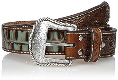 Nocona Belt Co. Men's Tirquoise Croc Side, Tan, 38